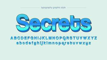 Blue Sans Serif 3D Typography
