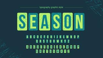 Grunge afgeronde vierkante typografie vector