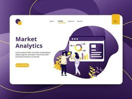 Landing page Market Analytic vector