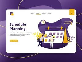 Landing page Schedule Planning