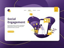 Landing page Social Engagement vector