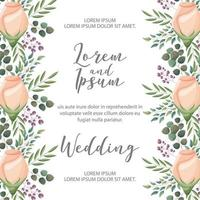 flower wedding card