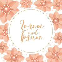 cartão de casamento flor vetor