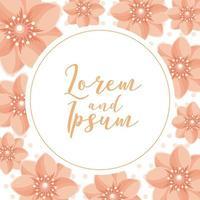 tarjeta de boda de flores