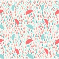 Seamless weather rainy day with umbrella pattern background