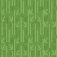 seamless green bamboo pattern background vector