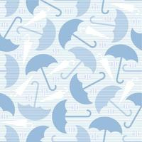 seamless umbrella with silver dot glitter pattern on blue background