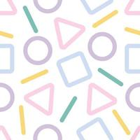 pastel abstract geometric pattern background vector