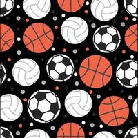 Sports Seamless Pattern Background