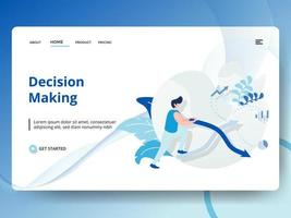 Landing Page Decision Making vector