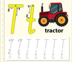 Trace the letter T template vector