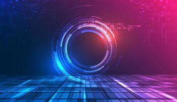 Diseño abstracto gradiente de tecnología futura vector