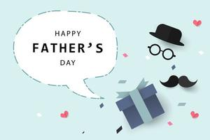 Happy Father's Day greeting card background and banner vector