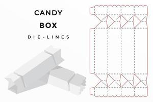 candy box die cut
