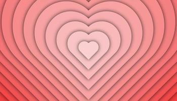 Liebesgeometrischer Hintergrund mit Papierschnittformen vektor