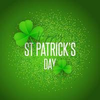 Shamrock background for St Patricks Day vector
