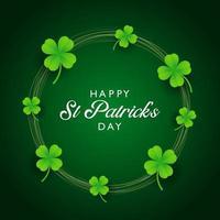 St. Patricks Day Hintergrund mit Klee