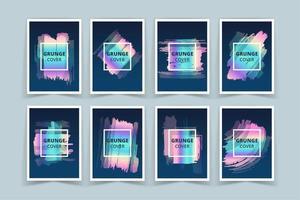 Ensemble de bannières de couverture holographique