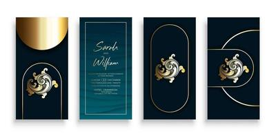 Luxury Gold Dark Invitation Template Set