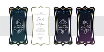 Luxury 3 Glitter Invitation Backgrounds Set vector