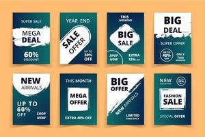 Grunge Art Sales Promotion  Banners Set vector