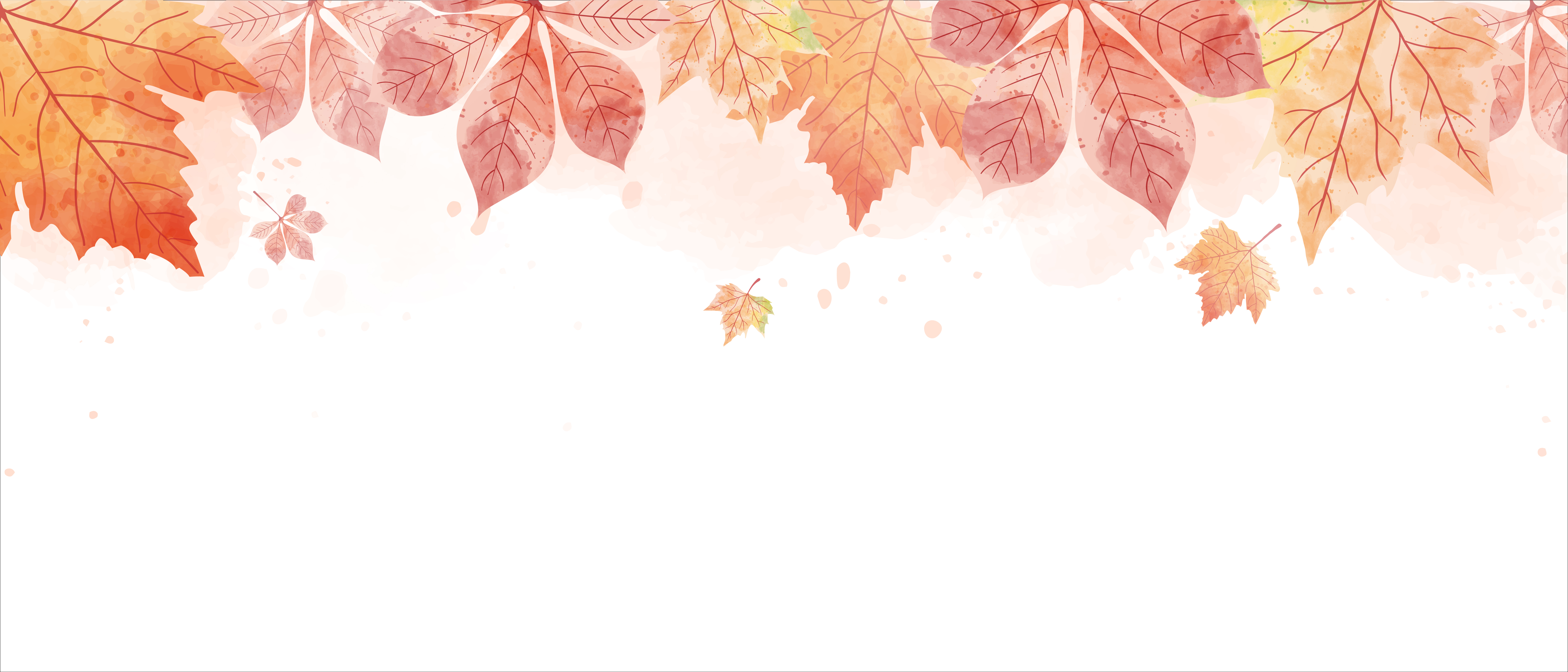 Watercolor Drawing Of Falling Red Leaves In Autumn Season Download Free Vectors Clipart Graphics Vector Art
