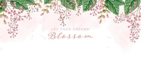 Beautiful watercolor blossom background vector