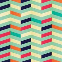 Geometric seamless chevron pattern in retro colors vector