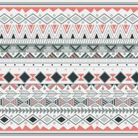 Aztec tribal pattern in stripes vector