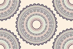 Ethnic Aztec circle ornament seamless pattern