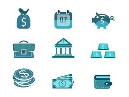 Set di icone vettoriali finanza