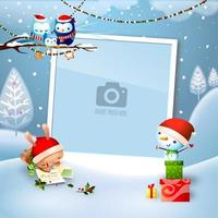 Dreaming of Christmas Single Photo Frame Template