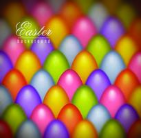 Colorful Pastel Colored Easter Eggs Background vector