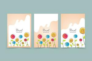Simple Floral Cover Template vector