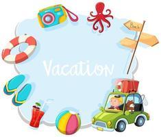 Um banner de férias de verão