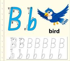 Trace the letter B template vector