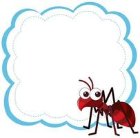 Ant on blank background vector
