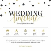 Wedding Timeline Template Vector