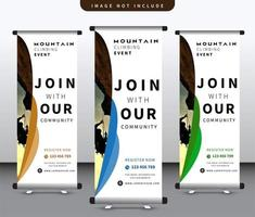 utomhus roll up banner set