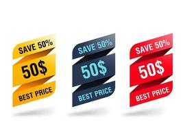Ribbon Discount Tag Set