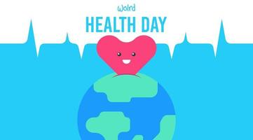 Ilustración plana del día mundial de la salud