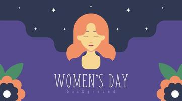 8 March Women's Day Background Illustration