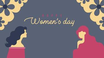 Floral Corner Happy Women's Day Background vector