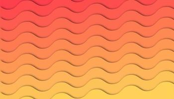 Fundo abstrato onda gradiente com formas de corte de papel