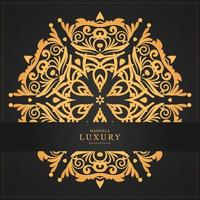Luxury Gold mandala and banner