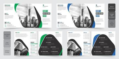 Diseño de folletos plegables de Corporate Business Square vector