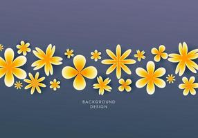 Spring background with beautiful yellow flowers vector