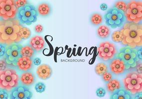 Colorful spring design with beautiful flowers vector