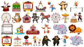 Huge circus collection set vector