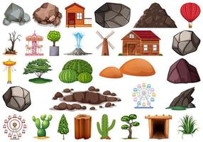 Collection of outdoor nature themed objects